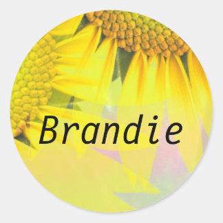 Brandie Round Sticker