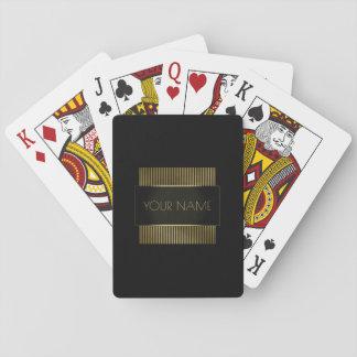 Branding Black Gold Minimal Name Geometry Luxury Playing Cards