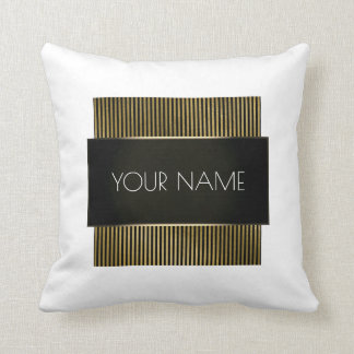 Branding Black Gold White Minimal Elegant Urban Throw Pillow