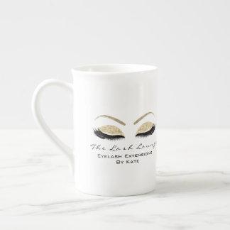 Branding Lashes Extension Beauty Studio Gold Faux Tea Cup