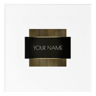 Branding Logo Black White Gold Minimal Geometry 1 Acrylic Print