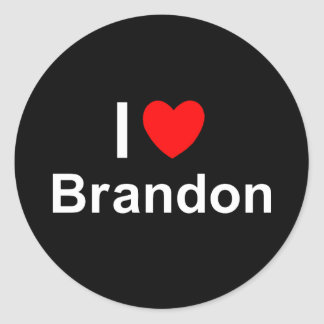Brandon Classic Round Sticker