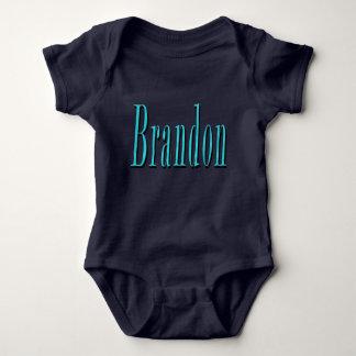 Brandon, Name, Blue Logo, Baby Bodysuit