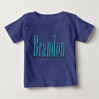 Brandon, Name, Blue Logo, Baby T-Shirt