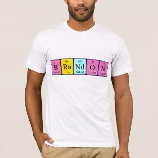 Brandon periodic table name shirt