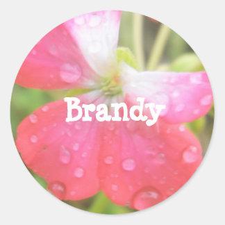 Brandy Round Sticker