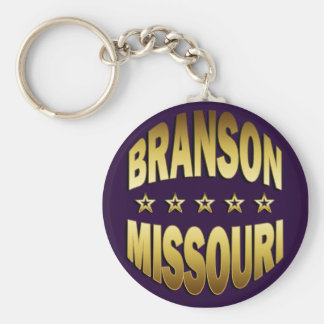 BRANSON, MISSOURI BASIC ROUND BUTTON KEYCHAIN