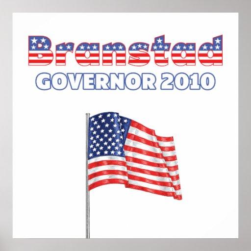 Branstad Patriotic American Flag 2010 Elections Poster