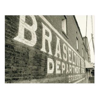 Braselton Bros. Department store Building Postcard