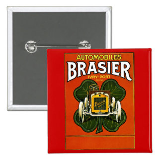 Brasier Automobiles Vintage French Advertisement Pin