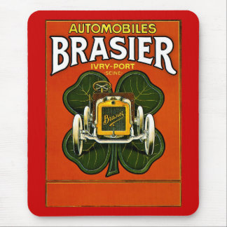 Brasier Automobiles Vintage French Advertisement Mousepad