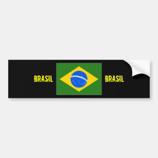 Brasil Center flag bumper sticker