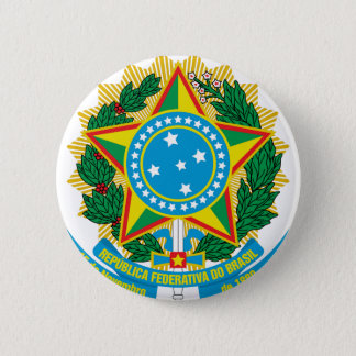 Brasil  Coat of Arms 2 Inch Round Button