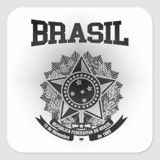 Brasil Coat of Arms Square Sticker