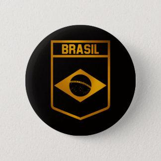 Brasil Emblem 2 Inch Round Button