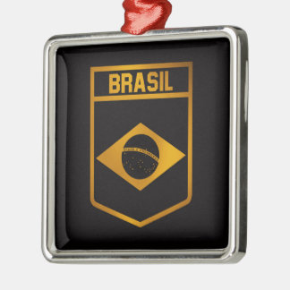 Brasil Emblem Metal Ornament