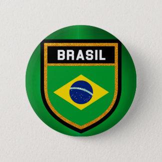 Brasil Flag 2 Inch Round Button