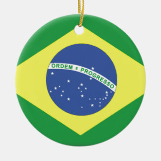 Brasil Flag Ceramic Ornament