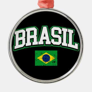 Brasil Flag Metal Ornament