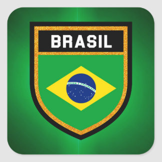 Brasil Flag Square Sticker