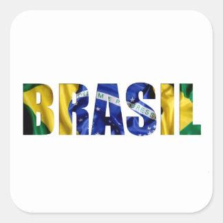 Brasil Flag Square Sticker