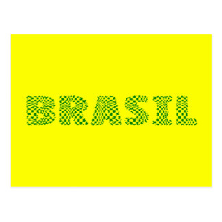 Brasil Optical Logo - Brazilian forest green Postcard