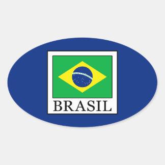 Brasil Oval Sticker