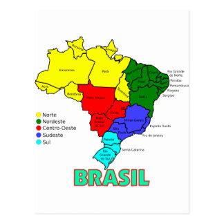 Brasil. Regions in Color Postcard
