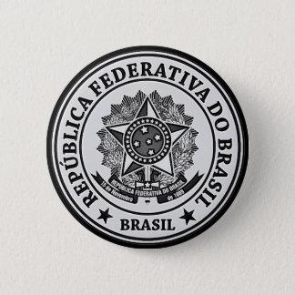 Brasil Round Emblem 2 Inch Round Button