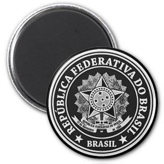 Brasil Round Emblem Magnet