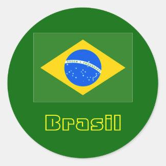 Brasil round stickers 4