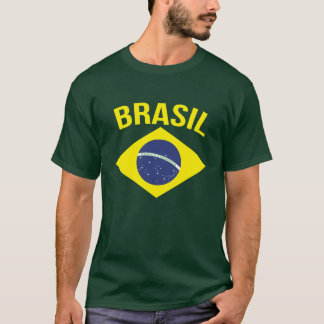 Brasil simple Brazilian flag green t-shirt