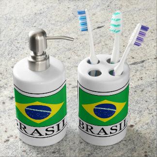 Brasil Soap Dispenser And Toothbrush Holder