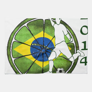 BRASIL SOCCER 2014 GIFTS CUSTOMIZABLE KITCHEN TOWEL