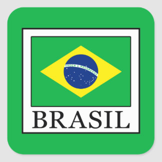 Brasil Square Sticker