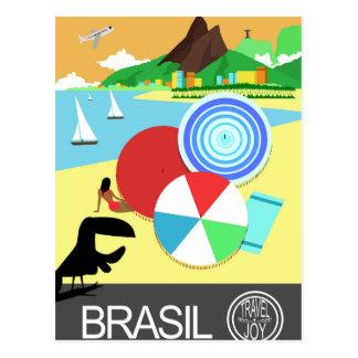 Brasil vintage retro Design Postcard