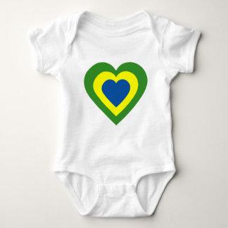 brasile-heart baby bodysuit