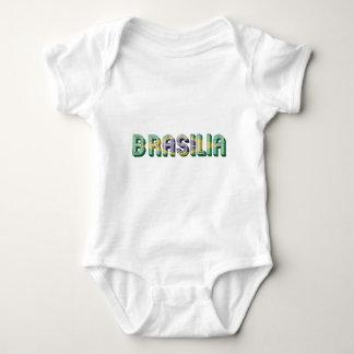 Brasilia Brasil Brazil Typography Flag Colors Baby Bodysuit