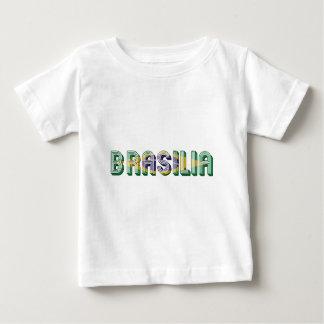 Brasilia Brasil Brazil Typography Flag Colors Baby T-Shirt