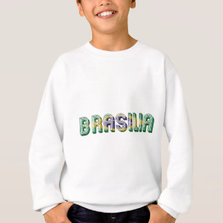 Brasilia Brasil Brazil Typography Flag Colors Sweatshirt