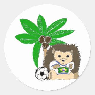 Brasilian HedgeHog Round Sticker