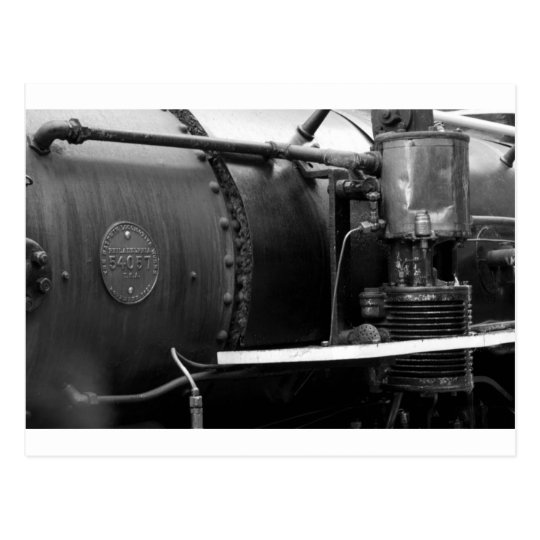 Brasilian old steam locomotive. postcard