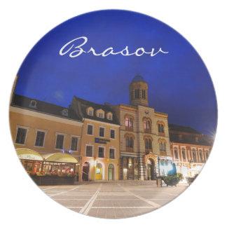 Brasov in Transylvania, Romania Plate