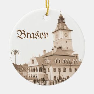 Brasov, Romania Round Ceramic Ornament