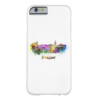 Brasov skyline in watercolor barely there iPhone 6 case