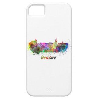 Brasov skyline in watercolor iPhone 5 covers