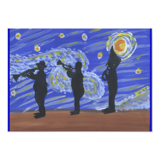 Brass Band Starry Night Card
