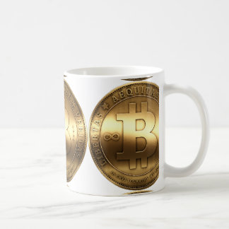 Brass Bitcoin Coffee Mug