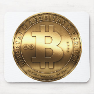 Brass Bitcoin Mouse Pad