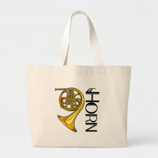 Brass French Horn Tote Bag